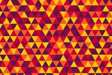 Vector Retro Triangle Tiles Pattern, Five Hot Colors
