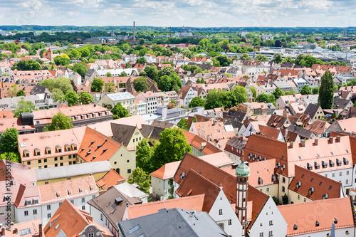 Zdjęcie XXL Widok z lotu ptaka na Augsburg