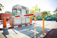 Barrier Gate Automatic System For Security.
