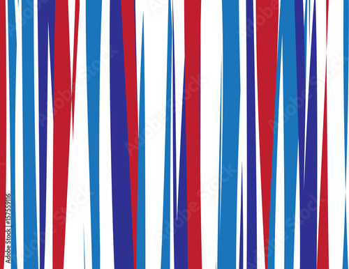 Fotografie, Obraz  Red, White and Blue Background