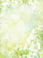 Naklejka Vector spring floral background.