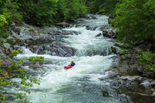 Whitewater Kayak Ride On River...