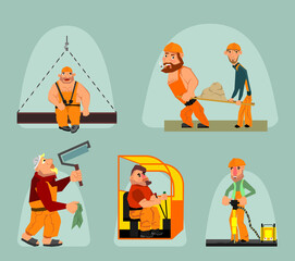 Six workers set