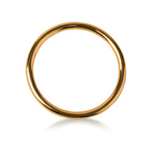 Lonely Golden Wedding Ring
