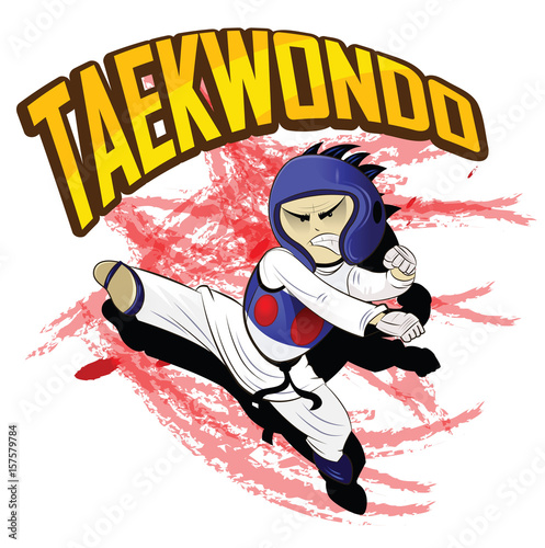Photo  Taekwondo. Martial art