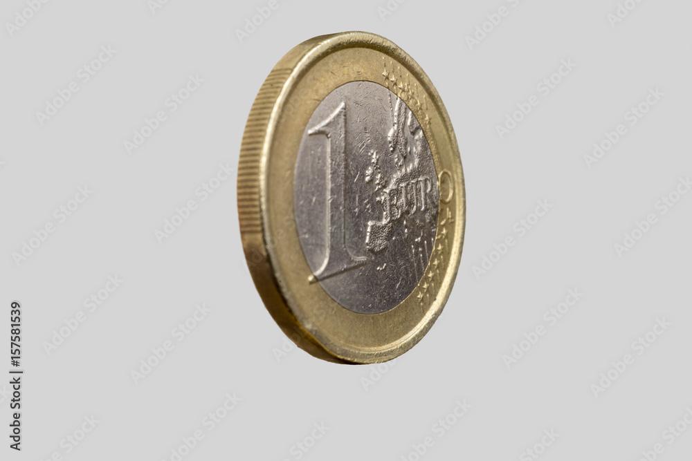 1 Euro Münze Geld Europa Foto Poster Wandbilder Bei Europosters