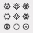 Set of flat gears