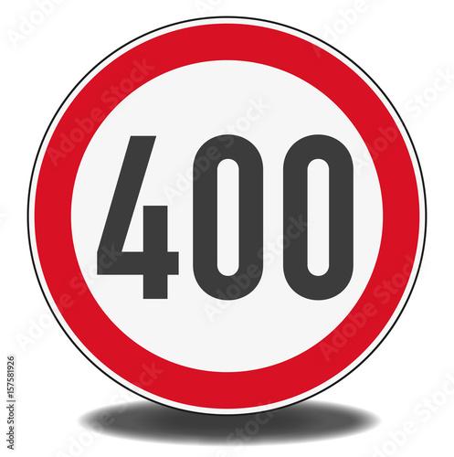 Papel de parede  Nachbildung Verkehrszeichen - Höchstgeschwindigkeit 400 km/h