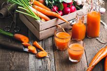 Fresh Carrot Juice In Bottles
