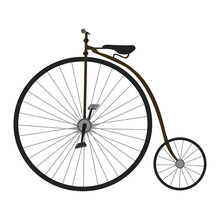 Side View Of An Old Bicycle