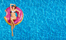 Woman In Bikini On The Inflata...
