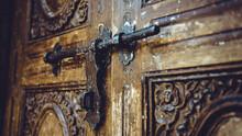 Antique Wooden Carved Door And...