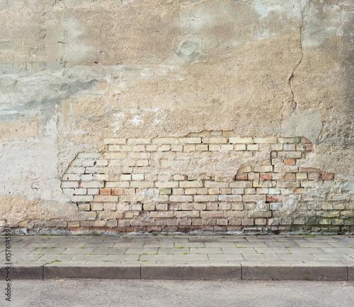 Poster Graffiti Grunge wall background