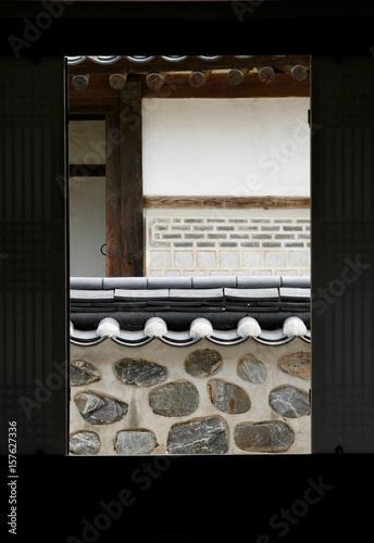Photo  korea traditional house