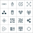 Artificial Intelligence Icons Set. Collection Of Atomic Cpu, Mainframe, Algorithm Illustration And Other Elements. Also Includes Symbols Such As Diagram, Control, Mainframe.