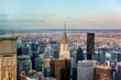 Manhattan skyline from above, New York City