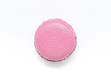 Pink Macaroon Isolated On A White Background.