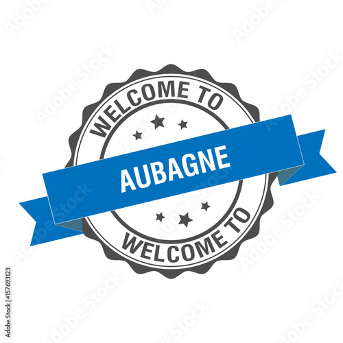 Welcome to Aubagne stamp illustration Wallpaper Mural