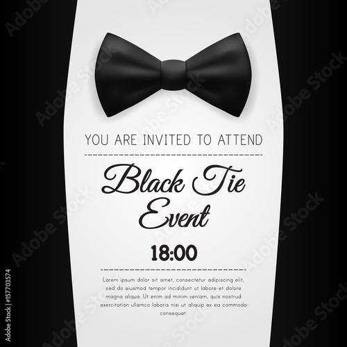 elegant black tie event invitation template buy this stock vector