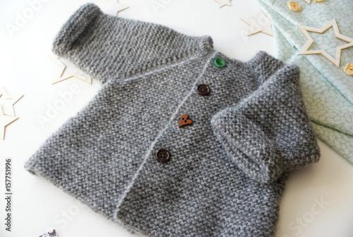 Fotografie, Obraz  Шерстяное пальто для младенца