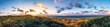 canvas print picture - Sylt Lister Ellenbogen, Panorama im Sonnenuntergang mit Leuchtturm