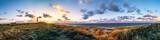Sylt Lister Ellenbogen, Panorama im Sonnenuntergang mit Leuchtturm