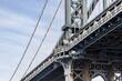 USA, New York City, Manhattan Bridge