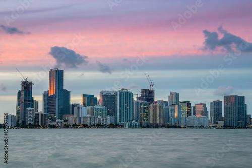 Foto op Aluminium New York Miami Sunset