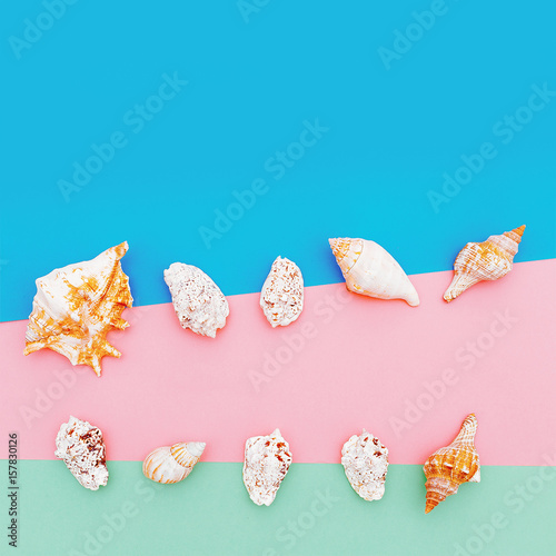Set shells minimal art design buy this stock photo and for Minimal art generator