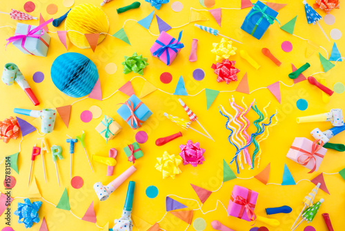 Photo  Buntes Party Zubehoer