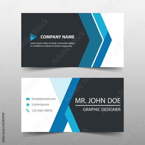 Blue corporate business card name card template horizontal simple blue corporate business card name card template horizontal simple clean layout design template cheaphphosting Images