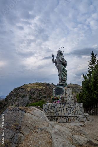 Fotografie, Obraz  Madonna del Mare (Our Lady of the Sea) statue - Bova Marina, Calabria, Italy