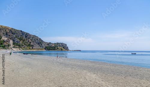 Obraz na plátně  Mediterranean beach of Ionian Sea - Bova Marina, Calabria, Italy