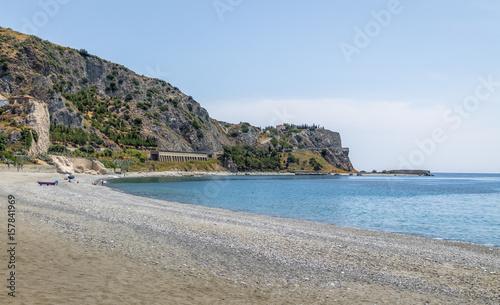 Fototapeta  Mediterranean beach of Ionian Sea - Bova Marina, Calabria, Italy