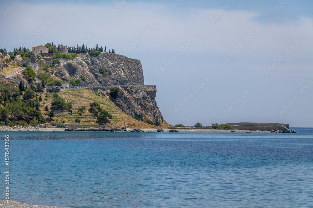 Fotografie, Obraz  Mount and Santuario della Madonna del Mare (Sanctuary of Our Lady of the Sea) -