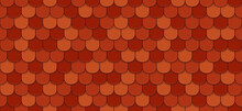 Red Roof Tiles Seamless Pattern