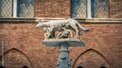 Photo  romulus and remus statue
