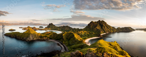 Staande foto Eiland Landscape view from the top of Padar island in Komodo islands, Flores, Indonesia.