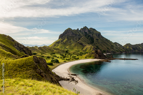 Ingelijste posters Eiland Landscape view from the top of Padar island in Komodo islands, Flores, Indonesia.