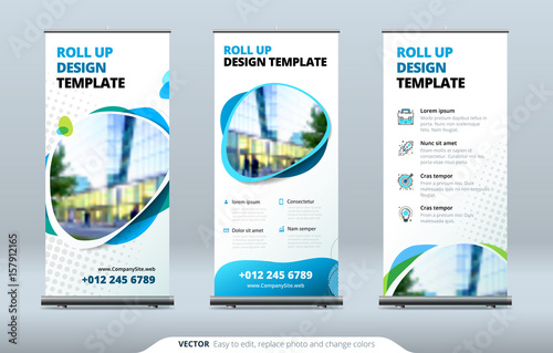 Fotografia  Business Roll Up Banner stand