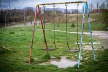 Abandoned Rusty Swing