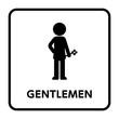 サイン トイレ,男性,花