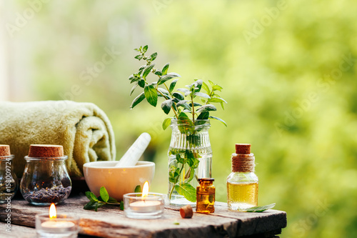 Fototapeta  Spa background with essential oil