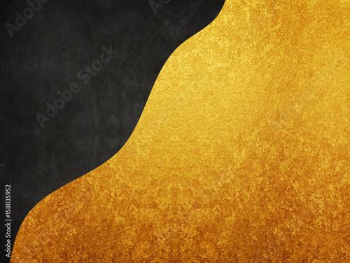 zlota-folia-i-czarny-material-tla