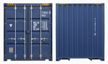 Shipping Container, Isolated, ...