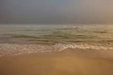 Foggy Morning At The Baltic Sea Coast. Jastrzebia Gora, Poland