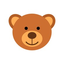 Teddy Bear Head Character Isol...