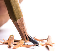 Closeup Pencil With A Broken T...