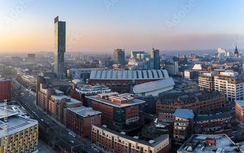 Photo sur Toile Batiment Urbain Manchester Skyline UK