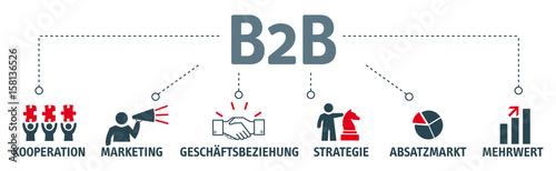 Fototapety, obrazy: Banner business-to-business Konzept